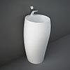 RAK Cloud 50cm 1TH Free Standing Basin - Matt White profile small image view 1