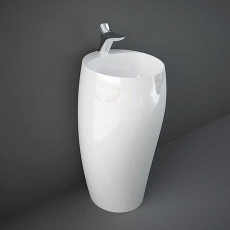 RAK Cloud 50cm 1TH Free Standing Basin - Gloss White