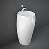 RAK Cloud 50cm 1TH Free Standing Basin - Gloss White profile small image view 1