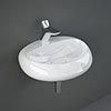 RAK Cloud 55cm 1TH Wall Hung Basin - Gloss White profile small image view 1