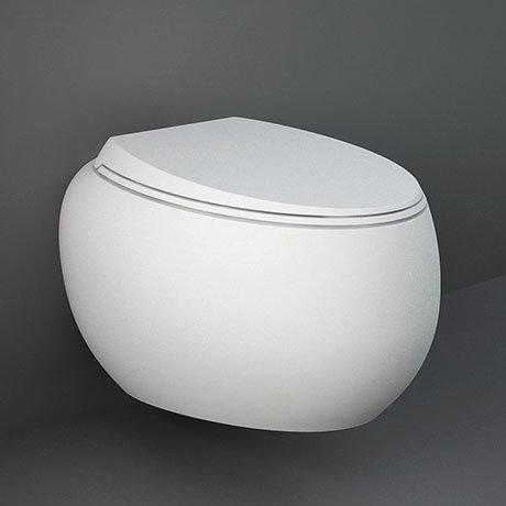 RAK Cloud Rimless Wall Hung Pan + Soft Close Seat - Matt White