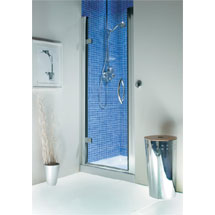 Roman Collage Hinged Shower Door Medium Image