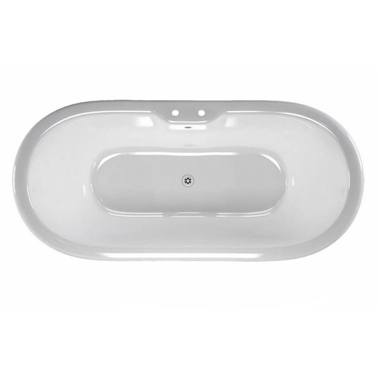 Clearwater - Battello Natural Stone Bath with Classic Chrome Feet - 1690 x 800mm - N10-L3C Profile Large Image