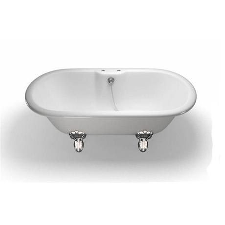Clearwater - Classico Natural Stone Bath with Classic Chrome Feet - 1690 x 800mm - N9-L3C