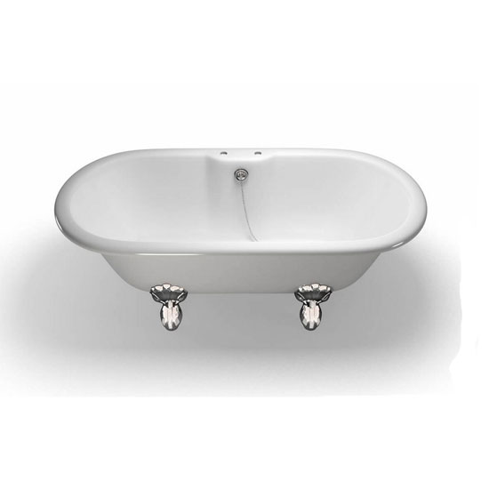 Clearwater - Classico Natural Stone Bath with Classic Chrome Feet - 1690 x 800mm - N9-L3C profile large image view 1