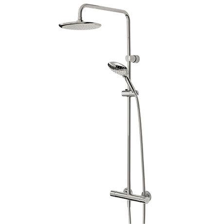 Bristan Claret Thermostatic Exposed Bar Shower with Rigid Riser - CLR-SHXDIVFF-C