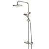 Bristan Claret Thermostatic Exposed Bar Shower with Rigid Riser - CLR-SHXDIVFF-C profile small image view 1