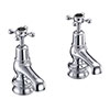 "Burlington Claremont Regent Black Basin Taps 3"" profile small image view 1"