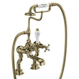 Burlington Gold Claremont Regent Deck Mounted Bath Shower Mixer