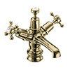 Burlington Gold Claremont Regent Basin Mixer with Click-Clack Waste profile small image view 1