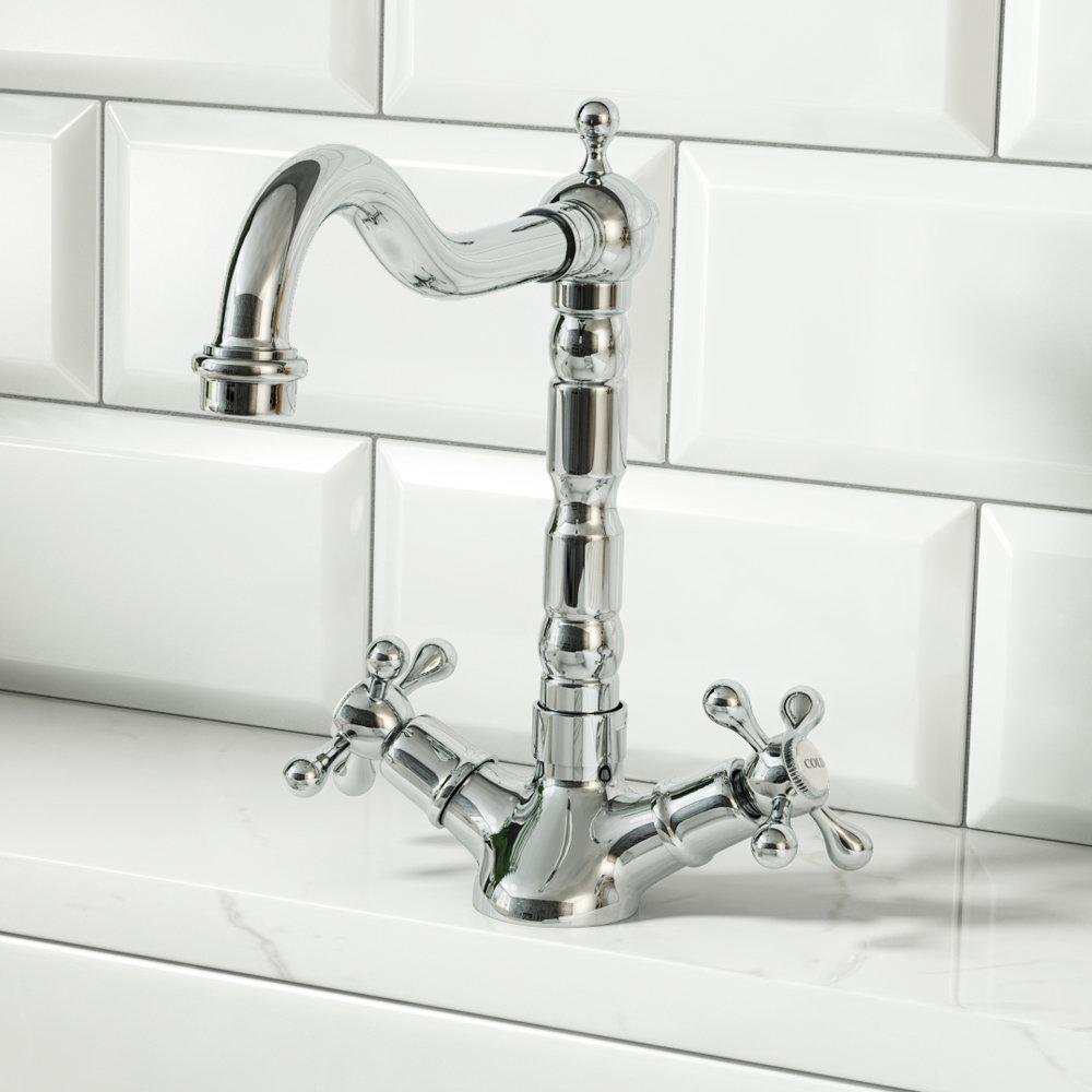 Britannia Classic Mono Sink Mixer - Chrome