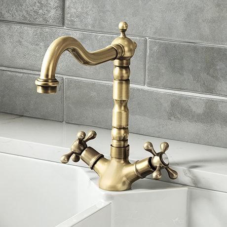 Britannia Classic Mono Sink Mixer - Antique Bronze