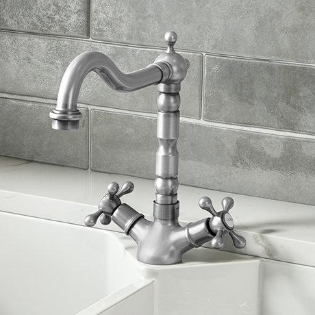 Britannia Classic Mono Sink Mixer - Brushed Nickel