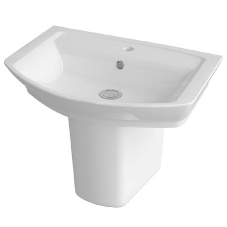 Hudson Reed Alton Basin 1TH & Semi Pedestal - 3 Size Options