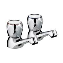 Bristan - Club Basin Taps - Chrome with Metal Heads - VAC-1/2-C-MT Medium Image