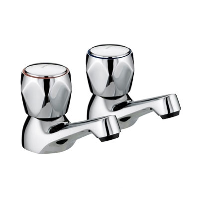 Bristan - Club Basin Taps - Chrome with Metal Heads - VAC-1/2-C-MT profile large image view 1