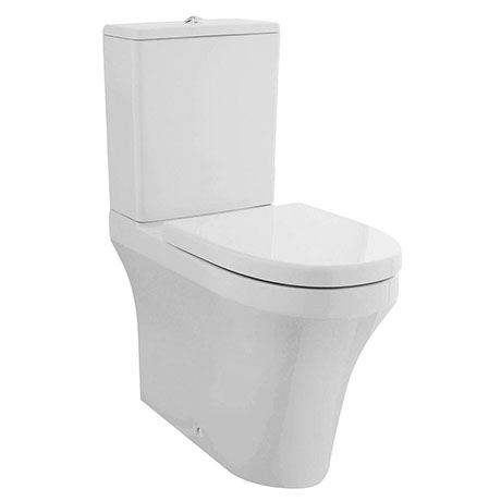 Nuie Provost Comfort Height Rimless BTW Toilet + Soft Close Seat - CMA011