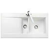 Rangemaster Nevada 1.5 Bowl Ceramic Kitchen Sink profile small image view 1