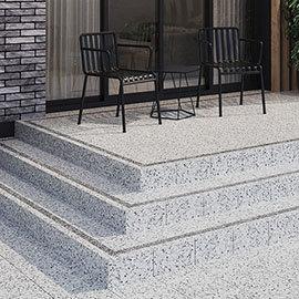 Cori Grey Terrazzo Effect Floor Tiles - 300 x 300mm