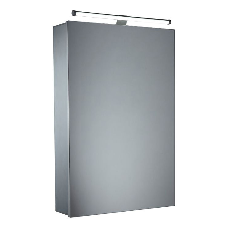 Tavistock Conduct Single Door Mirror Cabinet with LED Light Large Image