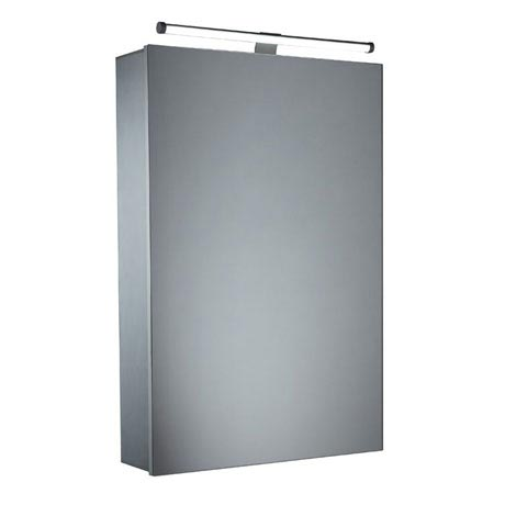 Tavistock Conduct Single Door Mirror Cabinet with LED Light