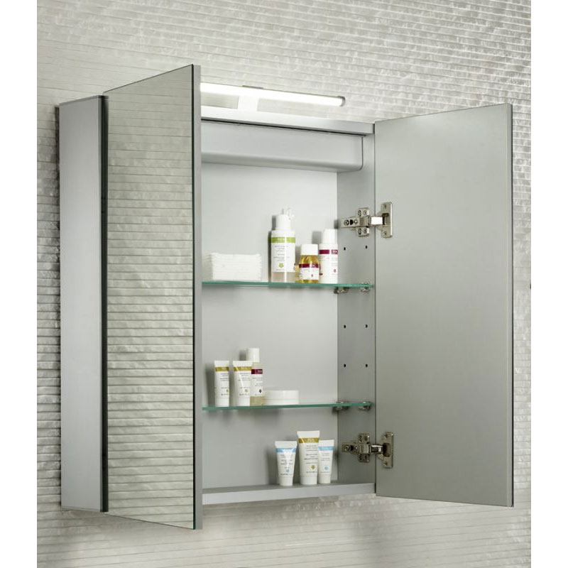 Tavistock Conduct Double Door Mirror Cabinet with LED Light profile large image view 3
