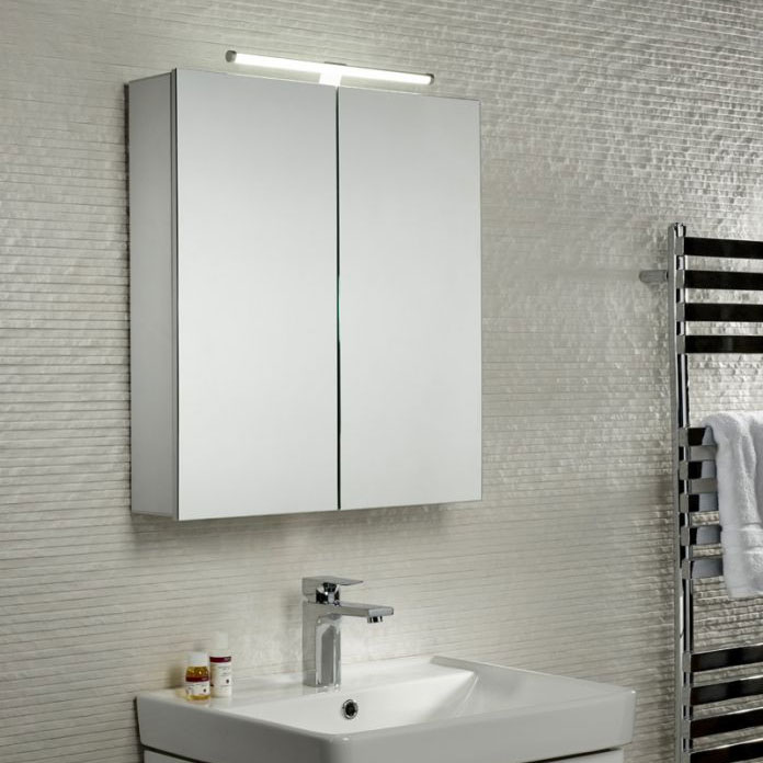 Tavistock Conduct Double Door Mirror Cabinet with LED Light profile large image view 4
