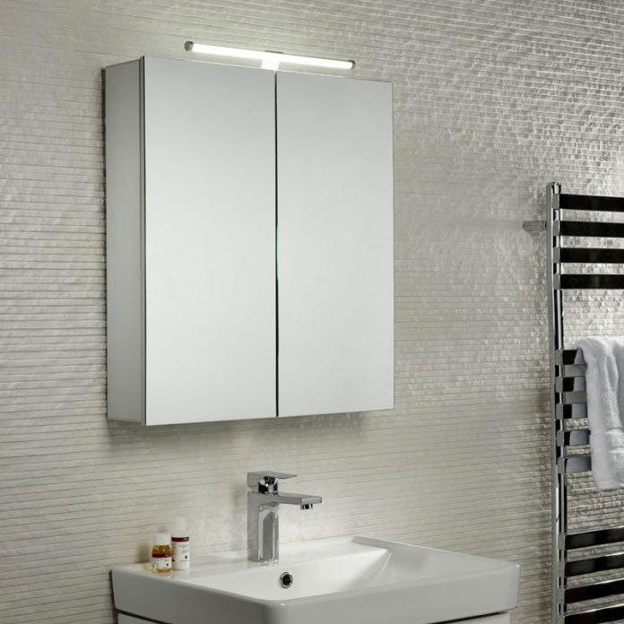 Tavistock Conduct Double Door Mirror Cabinet with LED Light Standard Large Image