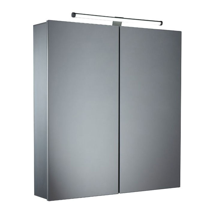 Tavistock Conduct Double Door Mirror Cabinet with LED Light Large Image