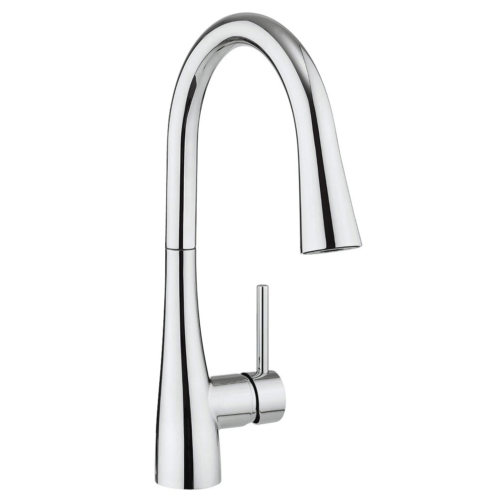 Crosswater Cook Side Lever Kitchen Mixer with Concealed Dual Function Spray - CO714DC Large Image