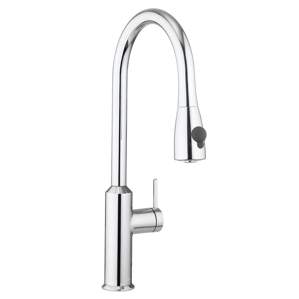 Crosswater - Cucina Cook Side Lever Kitchen Mixer with Pull Out Spray - Chrome - CO716DC Large Image