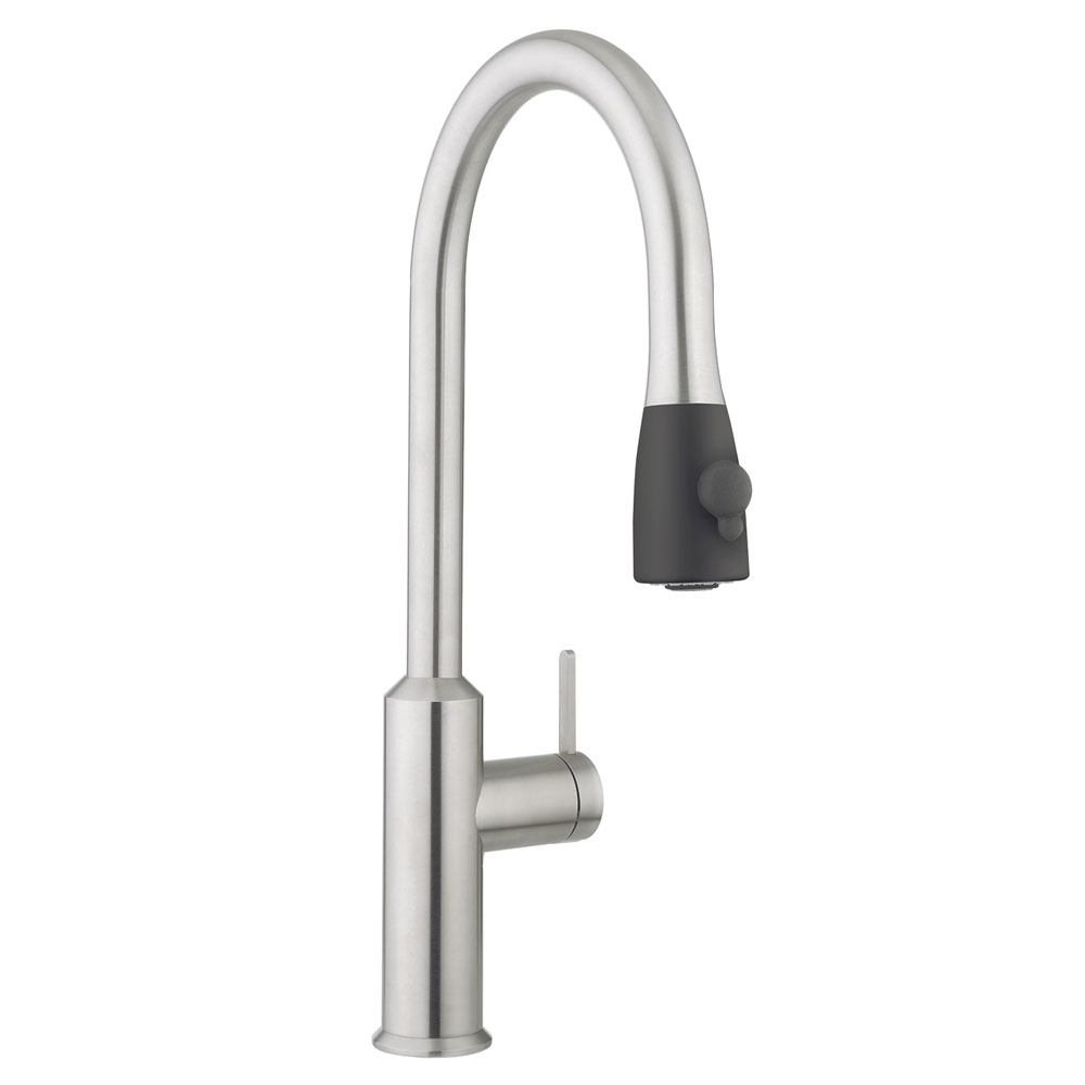 Crosswater - Cucina Cook Side Lever Kitchen Mixer with Pull Out Spray - Stainless Steel - CO717DS Large Image