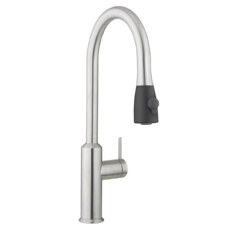 Crosswater - Cucina Cook Side Lever Kitchen Mixer with Pull Out Spray - Stainless Steel - CO717DS