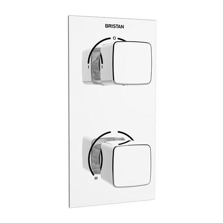 Bristan - Cobalt Thermostatic Recessed Dual Control Shower Valve with Integral Diverter - COB-SHCDIV