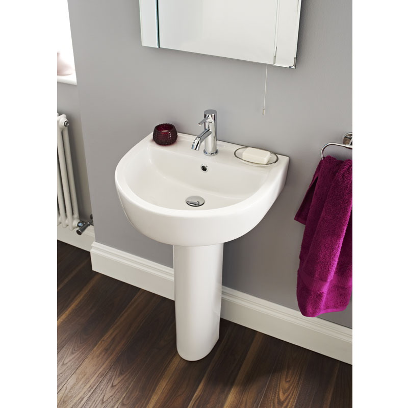 Ultra - Orb 1 Tap Hole Basin and Pedestal Set - 2 size options Profile Large Image