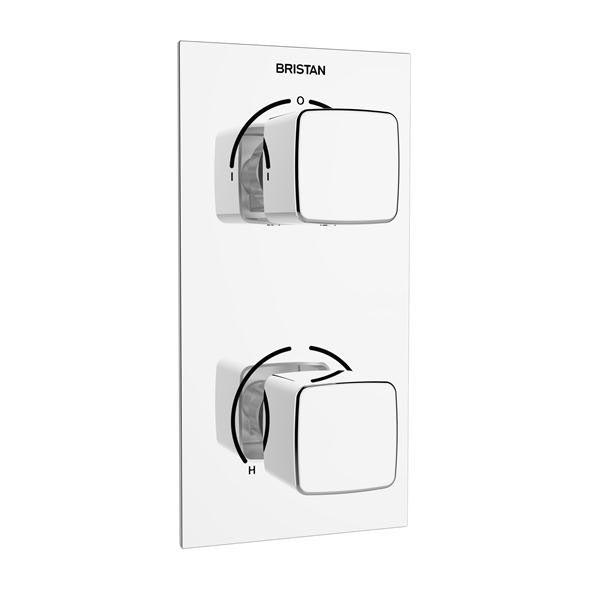 Bristan Cobalt Recessed Dual Control Shower Pack  Profile Large Image