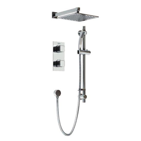 Bristan Cobalt Recessed Dual Control Shower Pack Large Image