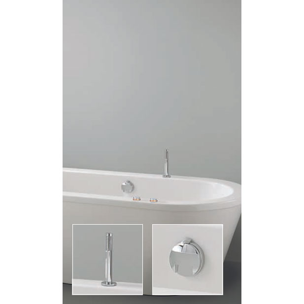 Crosswater Digital Cobra Duo Bath with Bath Filler Waste and Pull Out Handshower Large Image