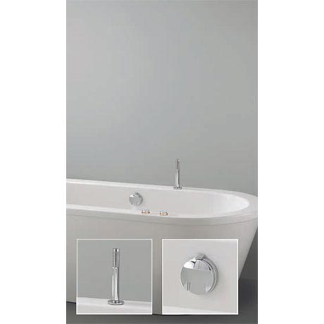Crosswater Digital Cobra Duo Bath with Bath Filler Waste and Pull Out Handshower