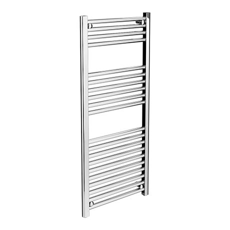 Diamond Heated Towel Rail - W500 x H1200mm - Chrome - Straight