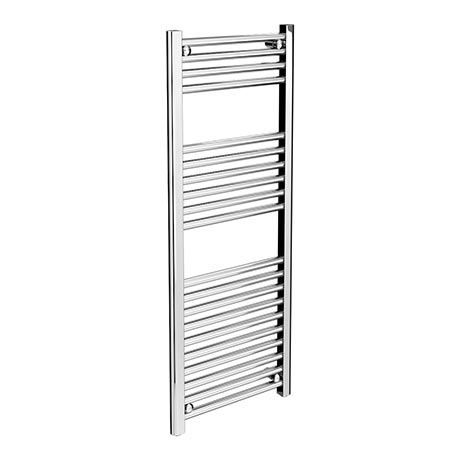 Diamond Heated Towel Rail - W400 x H1200mm - Chrome - Straight