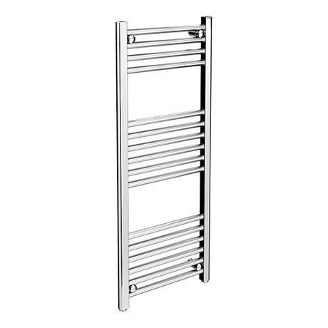 Diamond Heated Towel Rail - W400 x H1000mm - Chrome - Straight