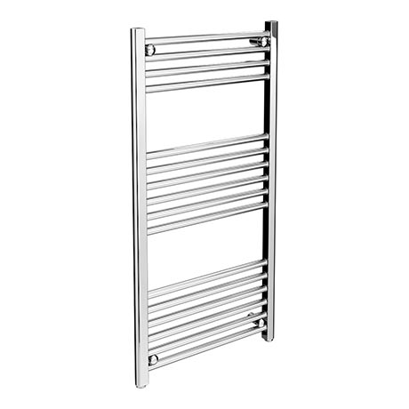 Diamond Heated Towel Rail - W500 x H1000mm - Chrome - Straight