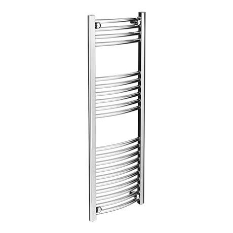 Diamond Curved Heated Towel Rail - W400 x H1200mm - Chrome