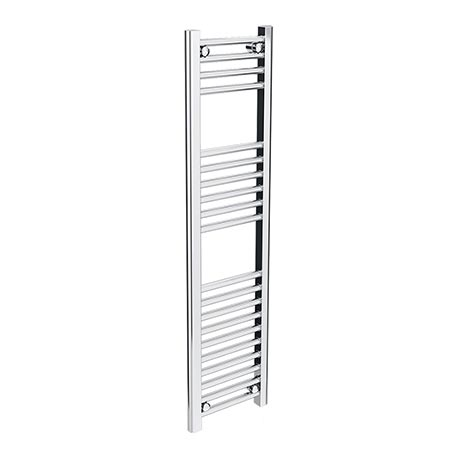 Diamond Heated Towel Rail - W300 x H1200mm - Chrome - Straight