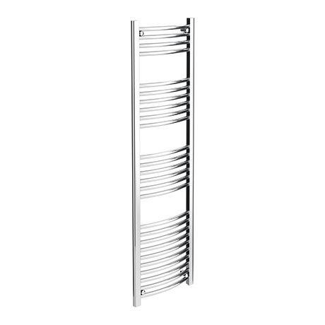 Diamond Curved Heated Towel Rail - W400 x H1600mm - Chrome