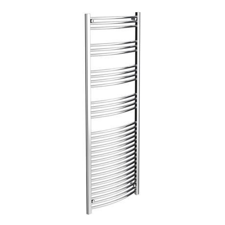 Diamond Curved Heated Towel Rail - W600 x H1800mm - Chrome