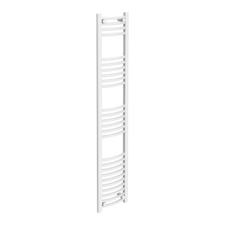 Diamond Curved Heated Towel Rail - W300 x H1600mm - White