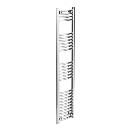 Diamond Curved Heated Towel Rail - W300 x H1600mm - Chrome