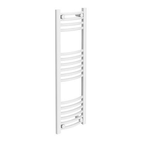 Diamond Curved Heated Towel Rail - W300 x H1000mm - White